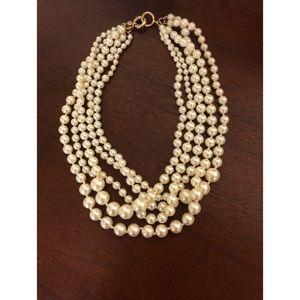 J. Crew multi-strand pearl necklace